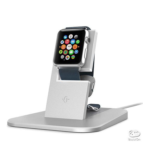 着脱が簡単で、充電がしやすい。机上やベッドサイドで見やすい位置に固定。細部に配慮した、あなたのApple Watchのための最適な居場所です。