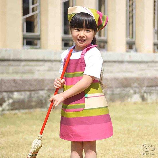 小さな子供たちが、お料理やお菓子作り、おうちのお手伝いをしたくなっちゃう。伝統ある最高品質の先染め織物を使った、こども専用エプロン。